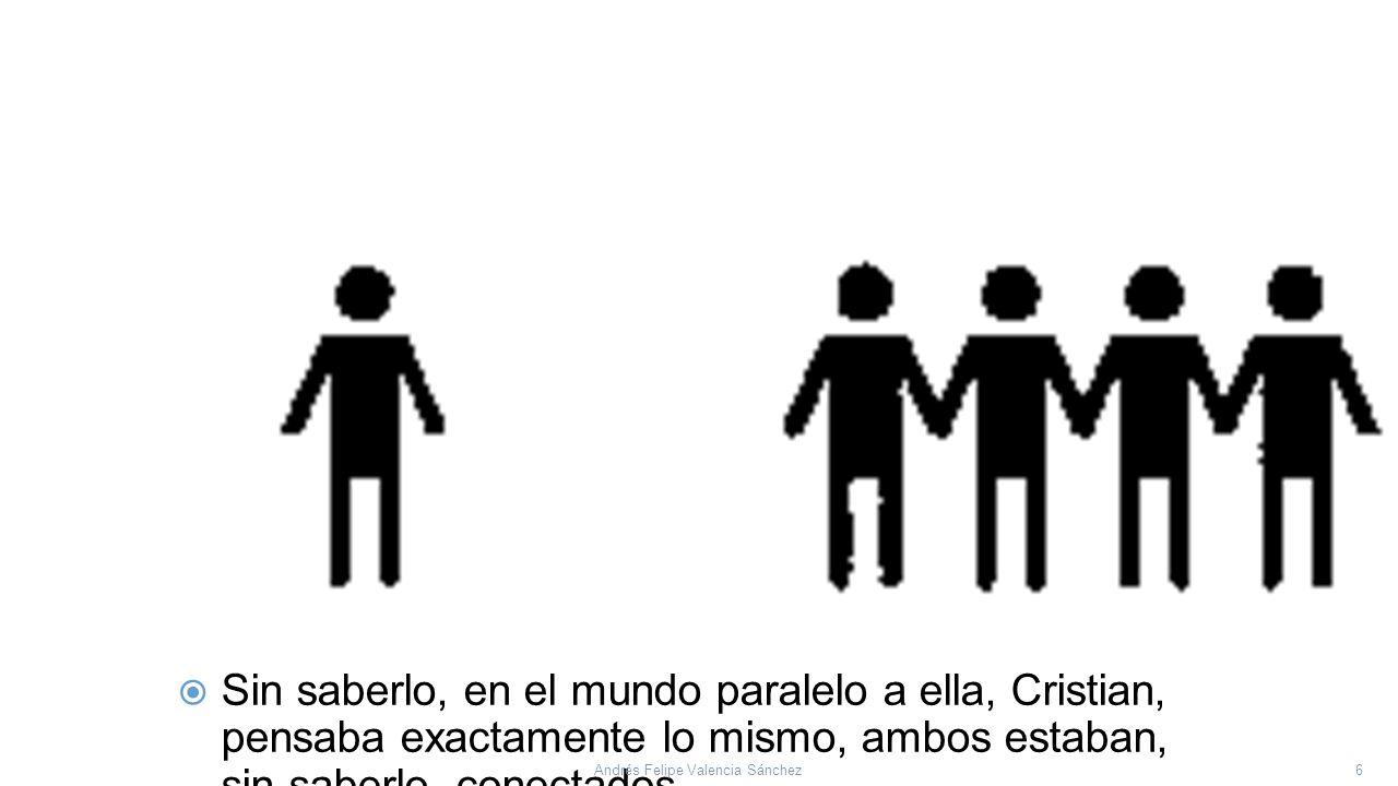  Erika: Hay algo en mí que me dice que más allá de todo lo que es tangible, lo que veo, más allá de las personas que me rodean… 7Andrés Felipe Valencia Sánchez
