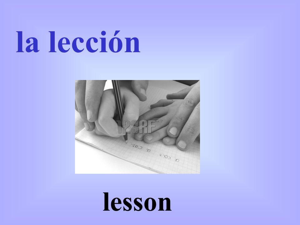 lesson la lección