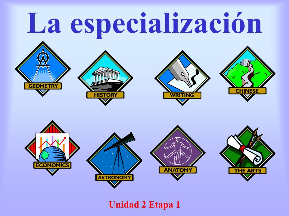La especialización Unidad 2 Etapa 1