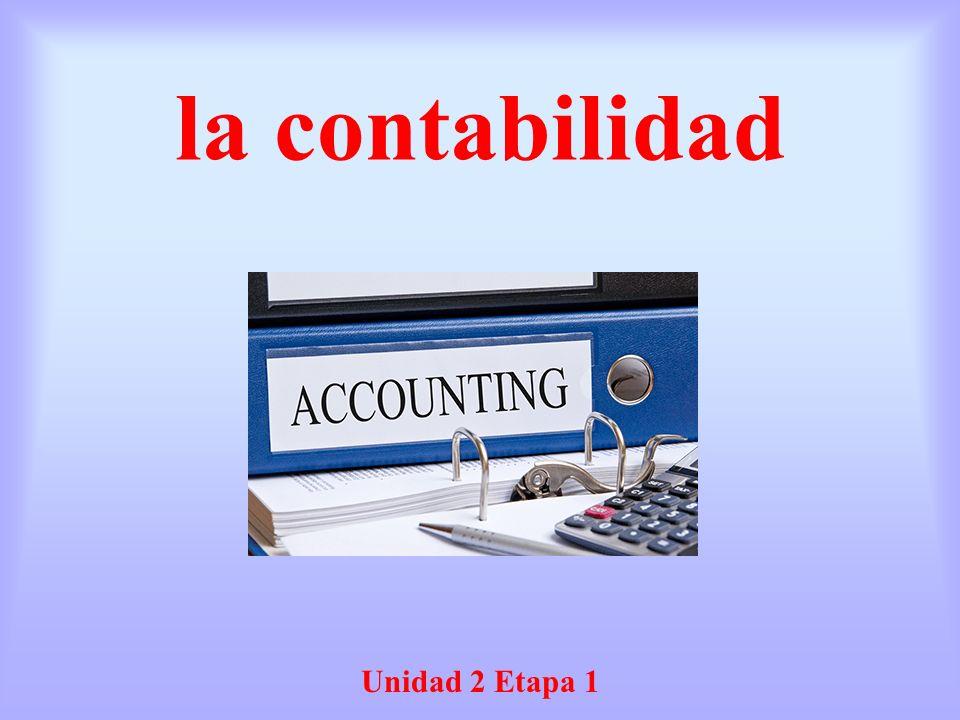 la contabilidad Unidad 2 Etapa 1