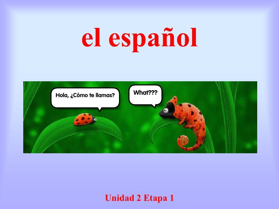 el español Unidad 2 Etapa 1