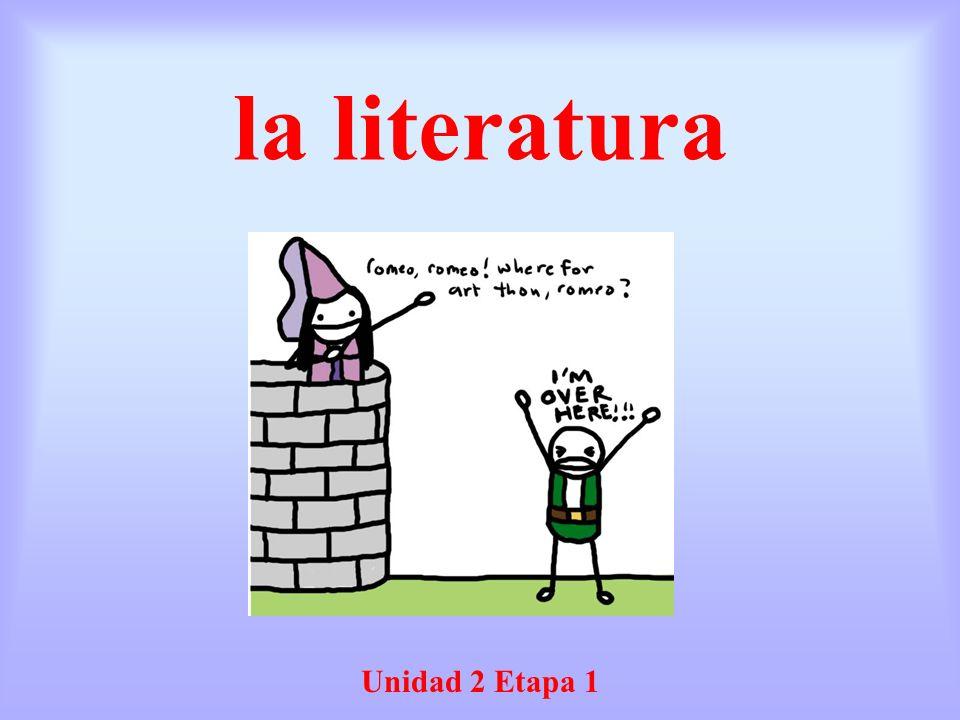 la literatura Unidad 2 Etapa 1