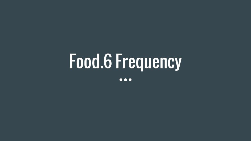 Food.6 Frequency