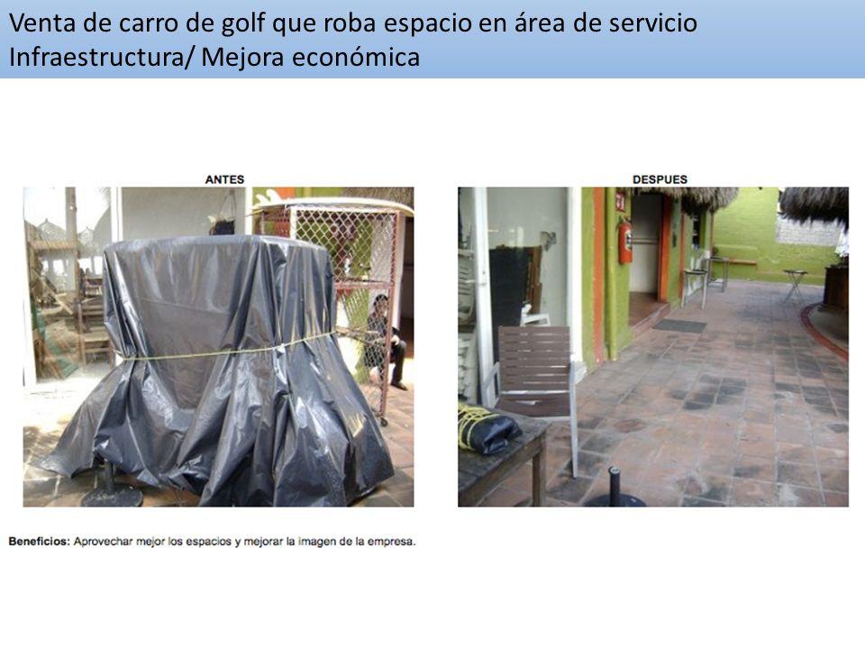 Infraestructura / Mejora económica Venta de carro de golf que roba espacio en área de servicio Infraestructura/ Mejora económica
