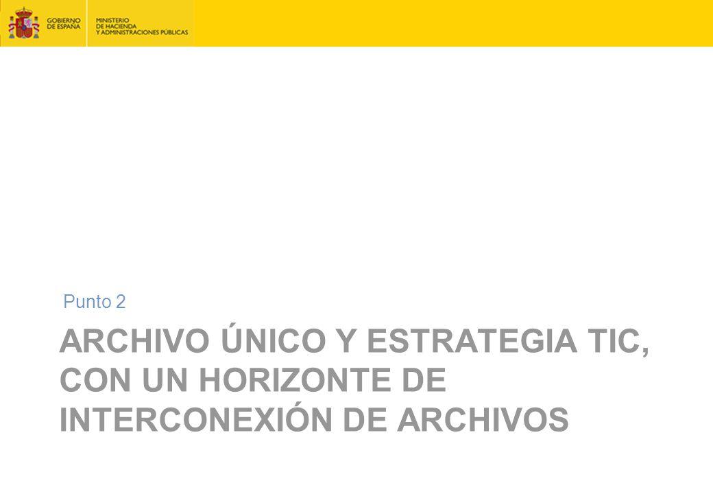 ARCHIVO ÚNICO Y ESTRATEGIA TIC, CON UN HORIZONTE DE INTERCONEXIÓN DE ARCHIVOS Punto 2