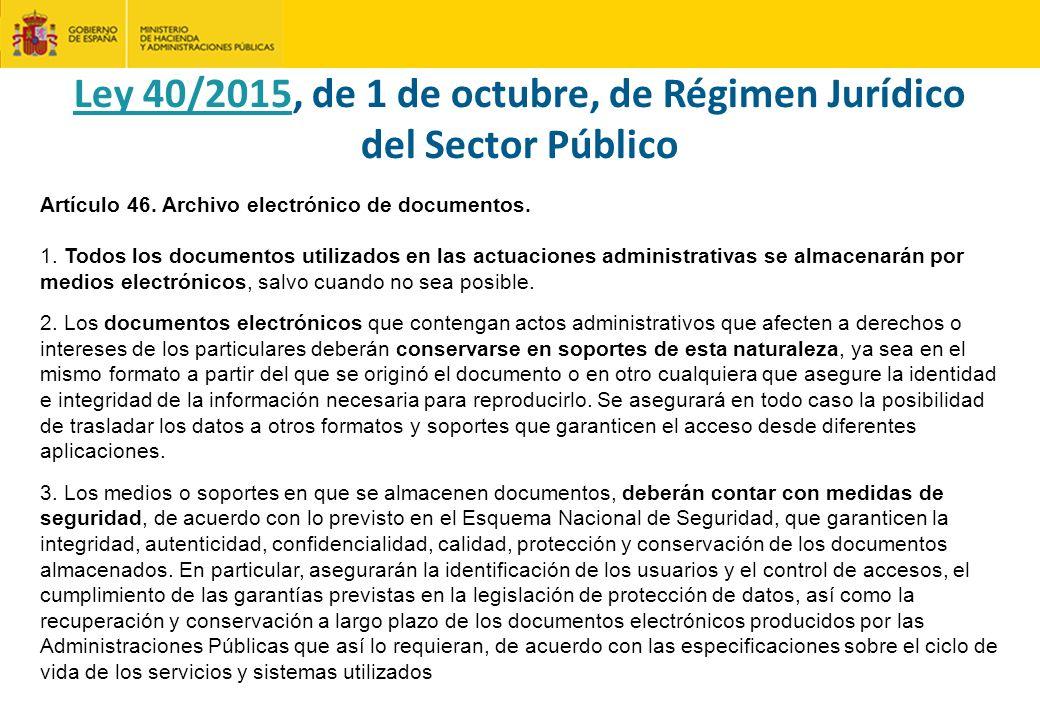 Artículo 46.Archivo electrónico de documentos. 1.