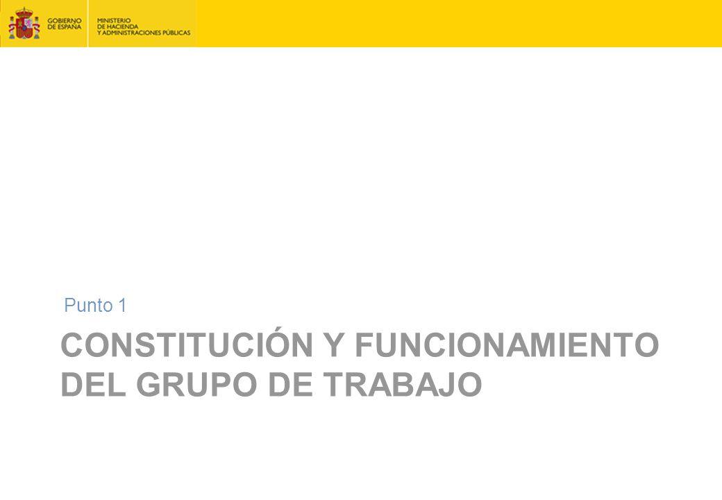CONSTITUCIÓN Y FUNCIONAMIENTO DEL GRUPO DE TRABAJO Punto 1