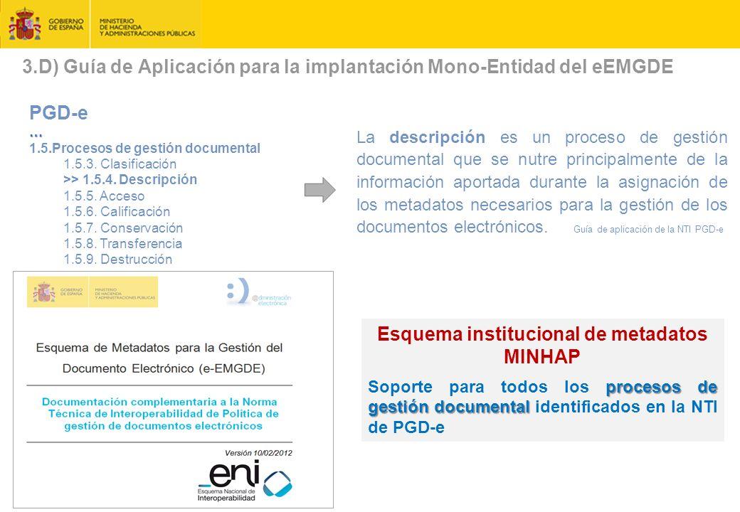 3.D) Guía de Aplicación para la implantación Mono-Entidad del eEMGDE PGD-e… 1.5.Procesos de gestión documental 1.5.3.