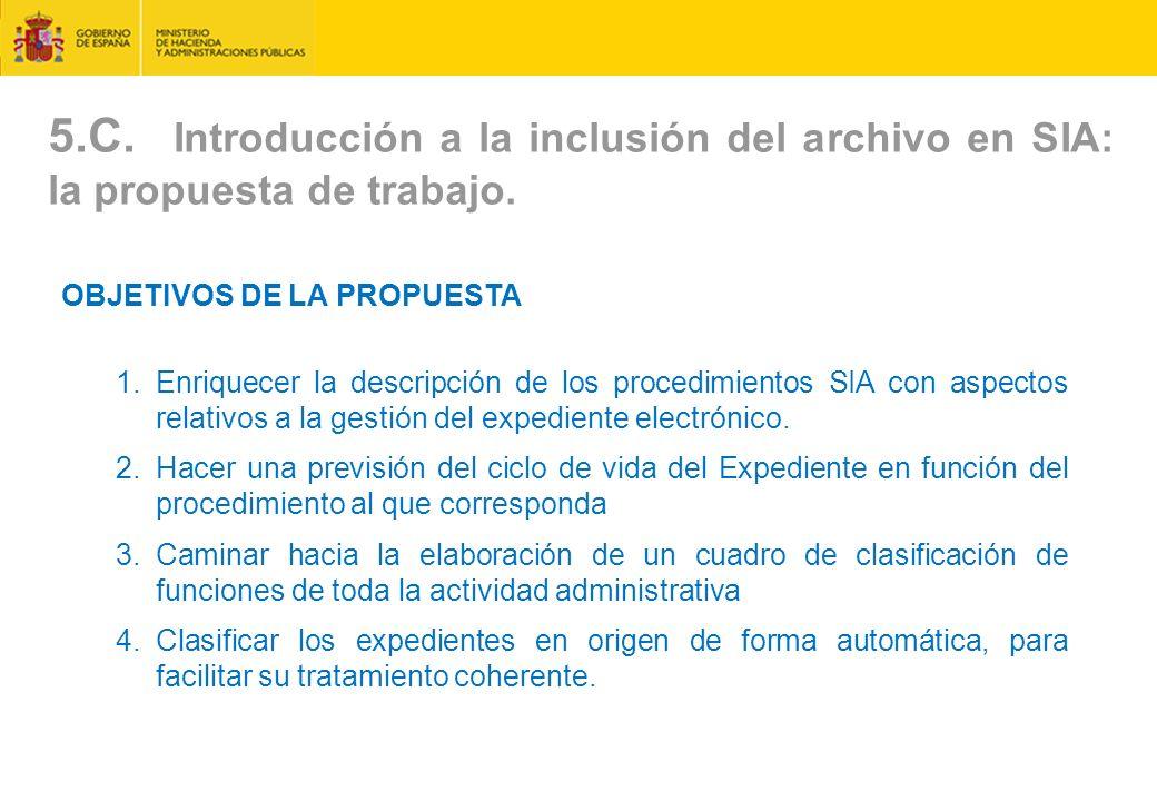 5.C.Introducción a la inclusión del archivo en SIA: la propuesta de trabajo.
