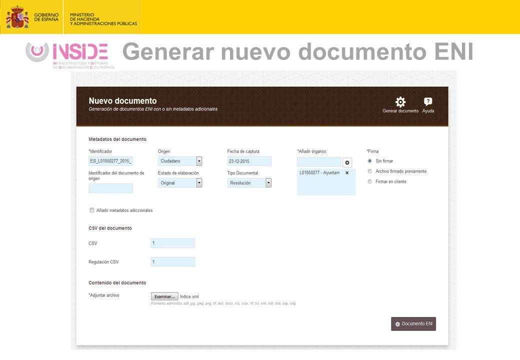 Generar nuevo documento ENI