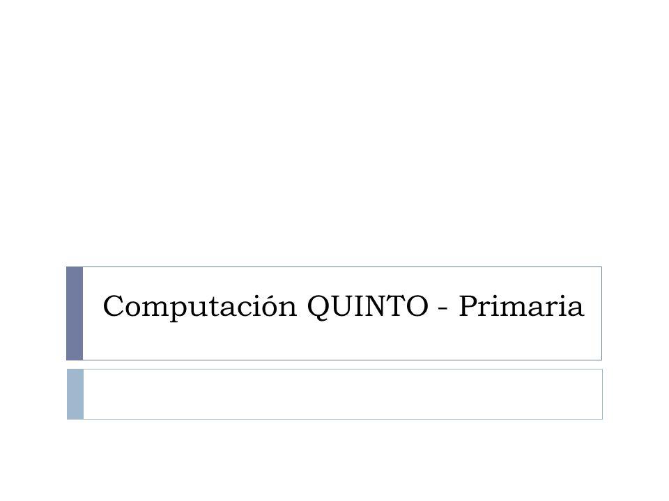 Computación QUINTO - Primaria