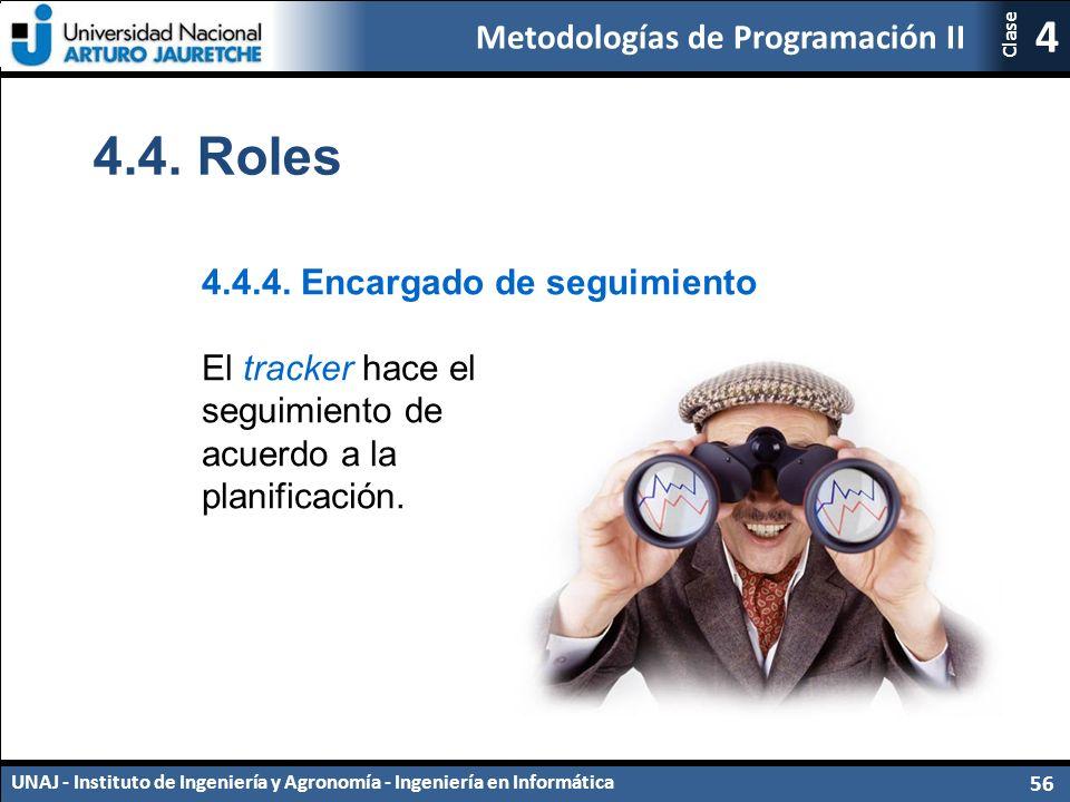 Metodologías de Programación II UNAJ - Instituto de Ingeniería y Agronomía - Ingeniería en Informática 56 4 Clase 4.4.