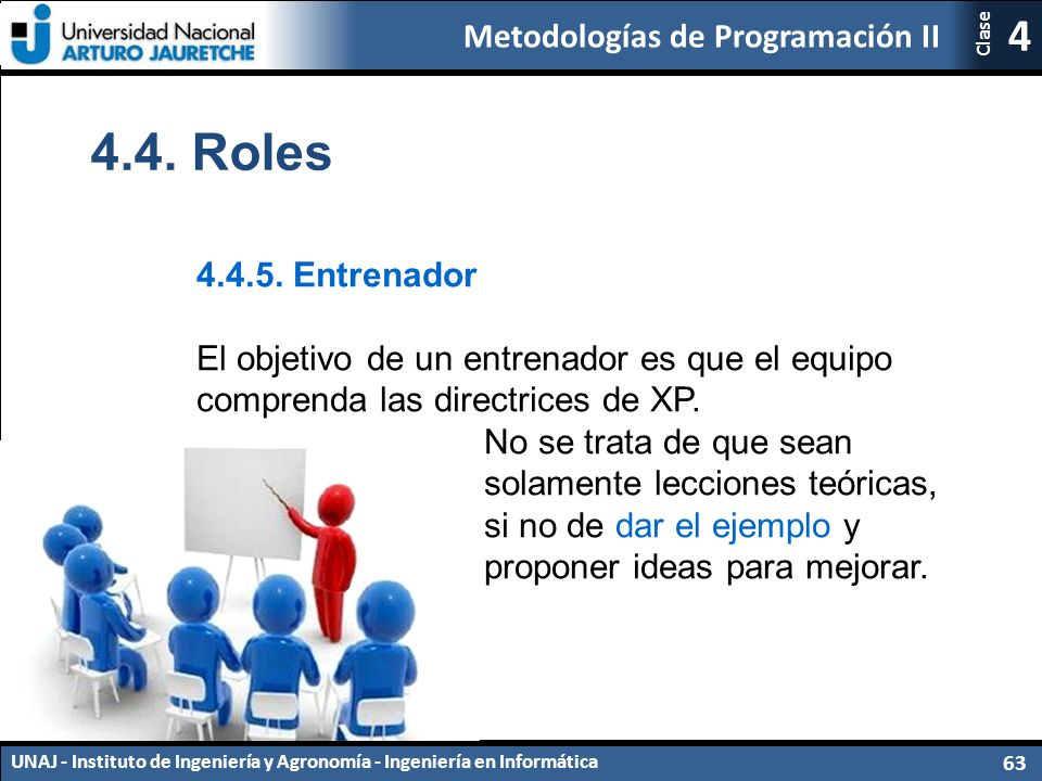 Metodologías de Programación II UNAJ - Instituto de Ingeniería y Agronomía - Ingeniería en Informática 63 4 Clase 4.4.