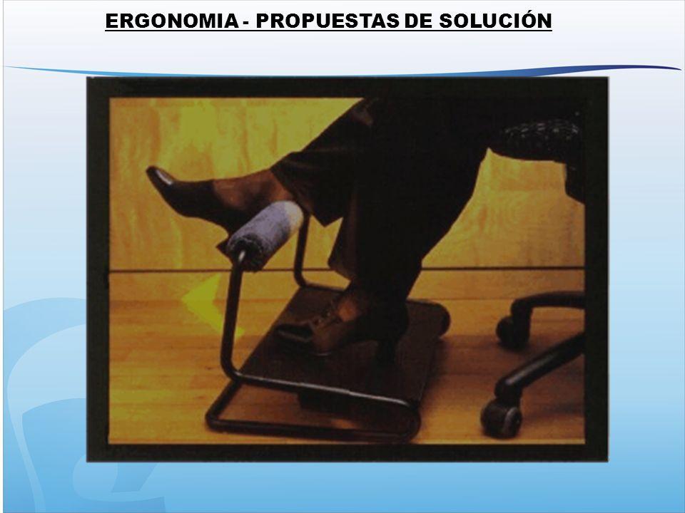 ERGONOMIA - PROPUESTAS DE SOLUCIÓN