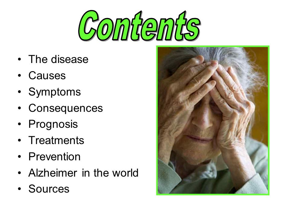 symptoms causes and treatment of alzheimers disease Alzheimer's disease is a degenerative disorder, which destroys brain cells it leads to a decline in mental function affecting memory, thinking, language and behaviour.