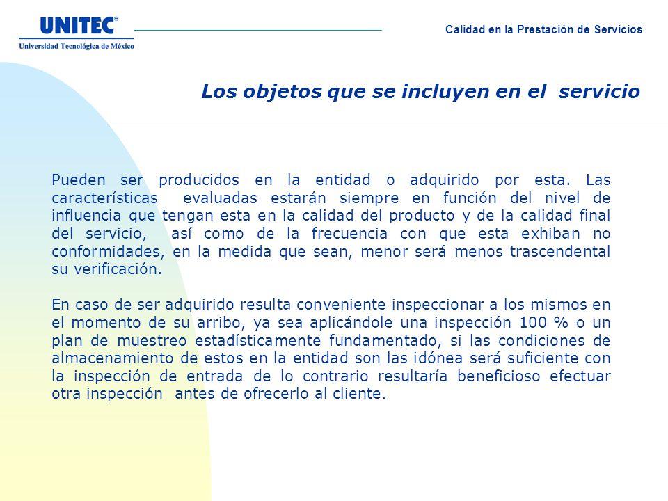 Los objetos que se incluyen en el servicio Pueden ser producidos en la entidad o adquirido por esta.