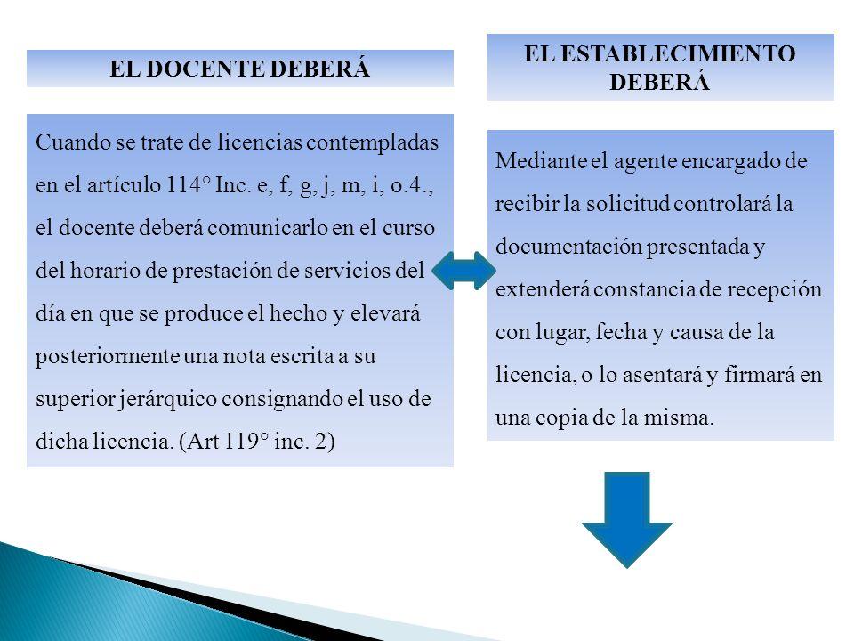 Mediante el agente encargado de recibir la solicitud controlará la documentación presentada y extenderá constancia de recepción con lugar, fecha y causa de la licencia, o lo asentará y firmará en una copia de la misma.