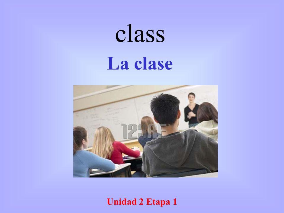 Unidad 2 Etapa 1 La clase class