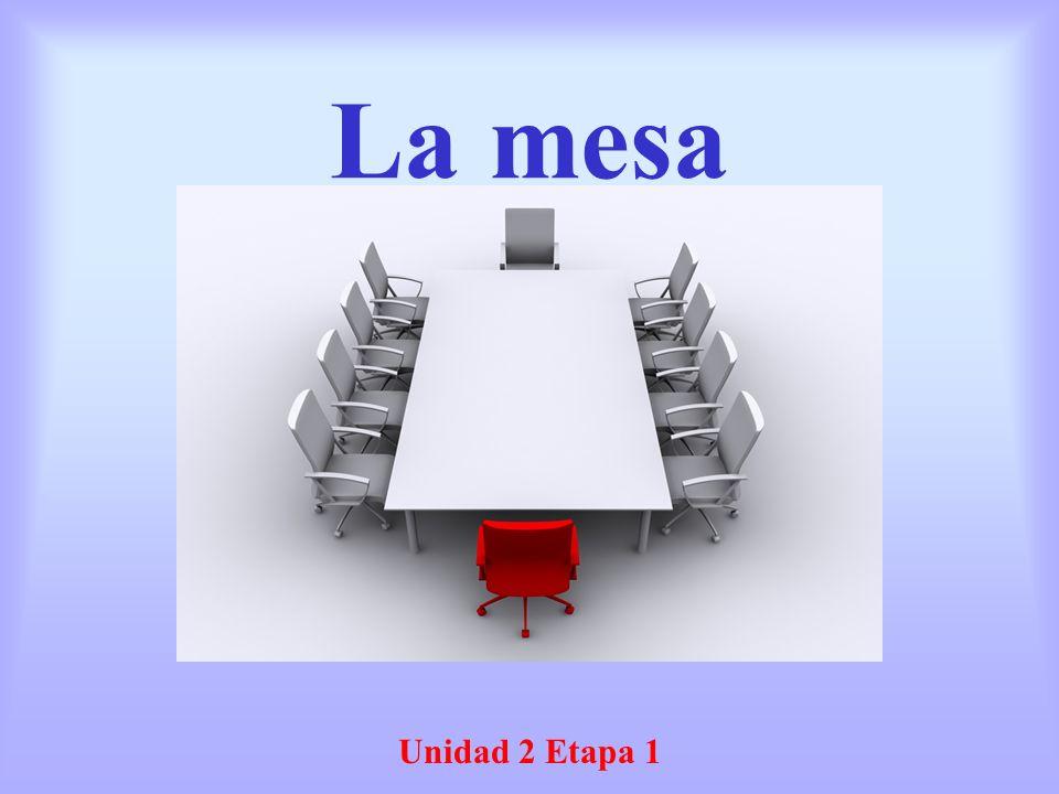 La mesa Unidad 2 Etapa 1