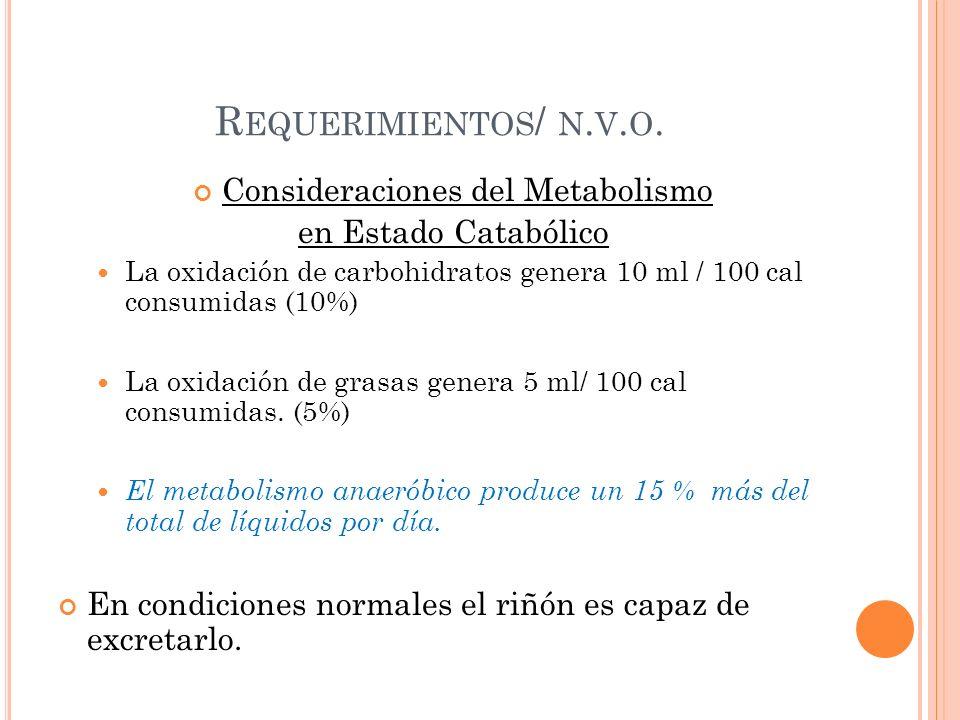 R EQUERIMIENTOS / N. V. O.