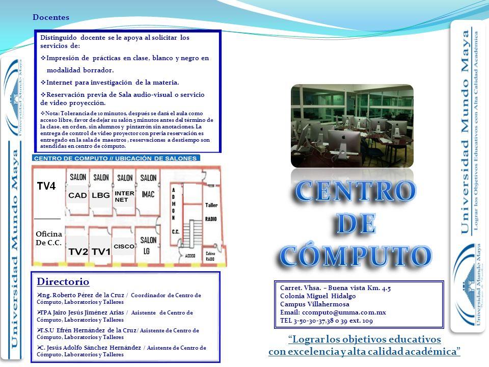 Lograr los objetivos educativos con excelencia y alta calidad académica Carret.