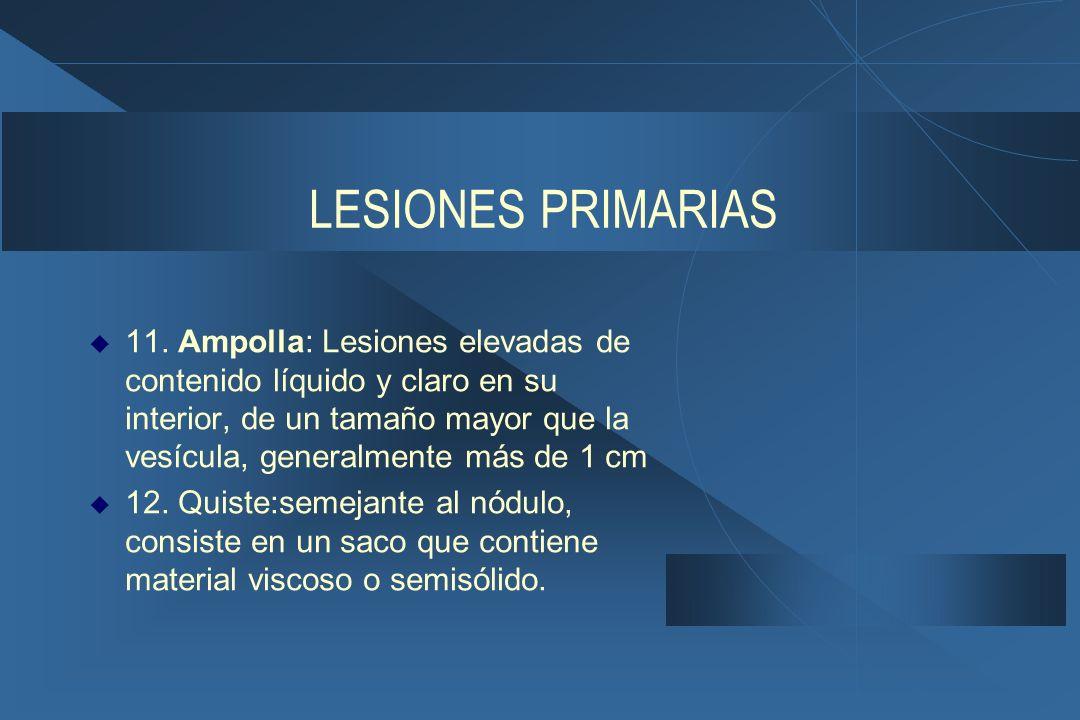LESIONES PRIMARIAS  11.