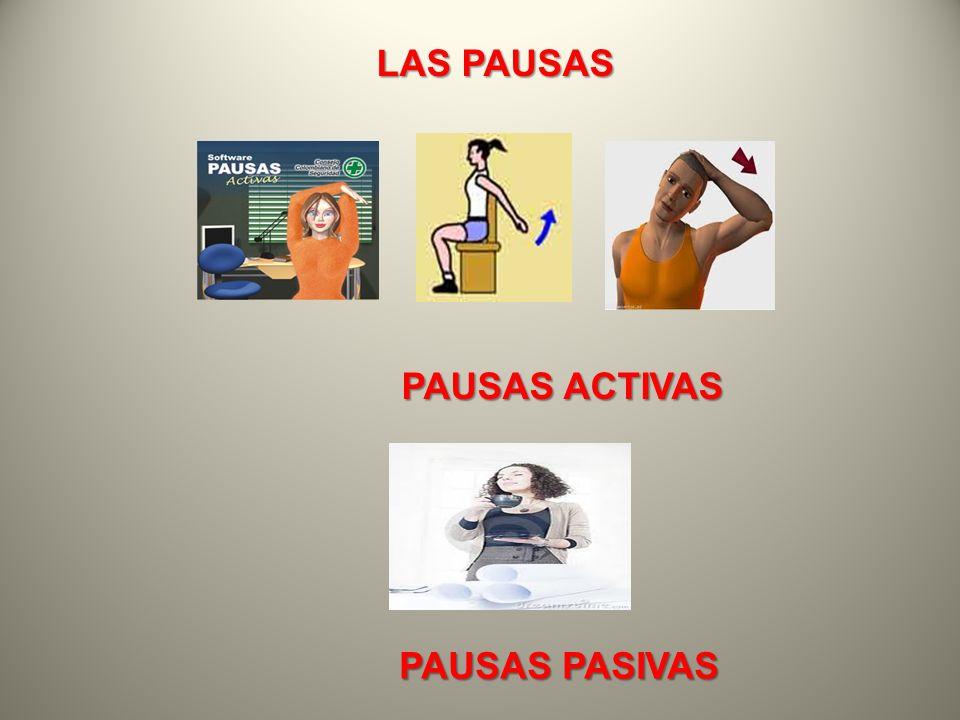 LAS PAUSAS PAUSAS ACTIVAS PAUSAS ACTIVAS PAUSAS PASIVAS