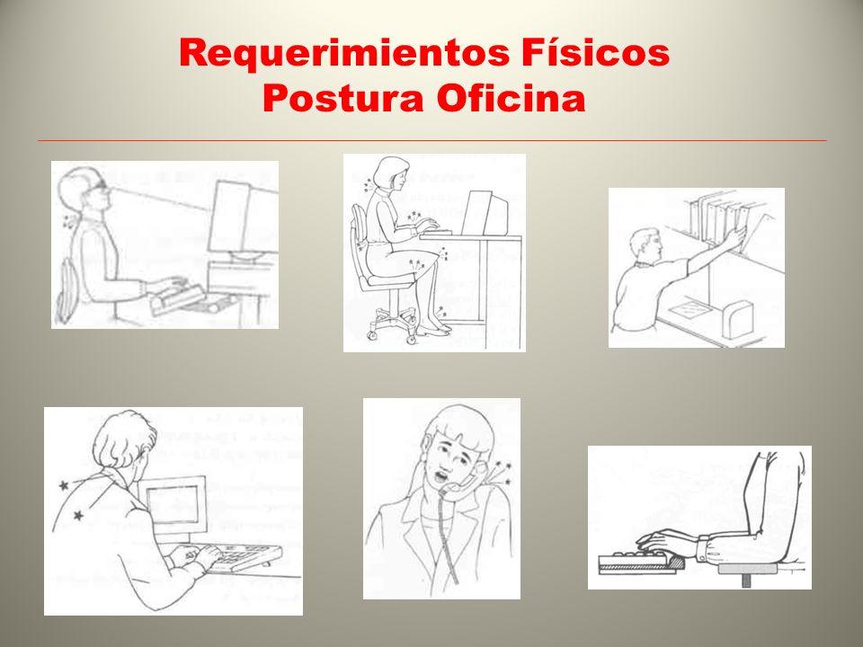 Requerimientos Físicos Postura Oficina