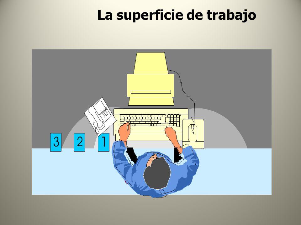 La superficie de trabajo