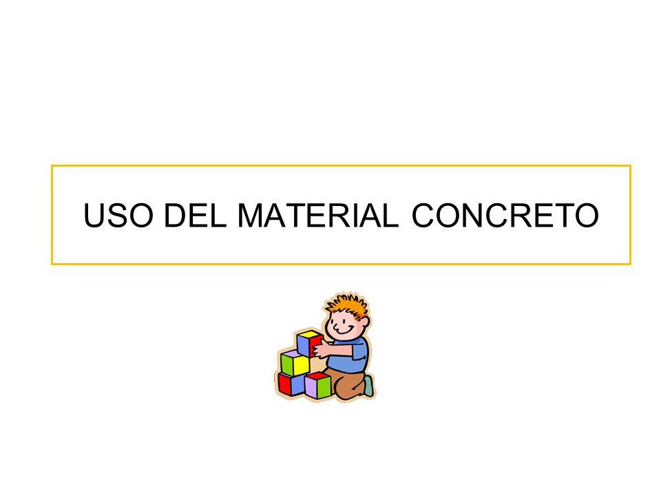 USO DEL MATERIAL CONCRETO