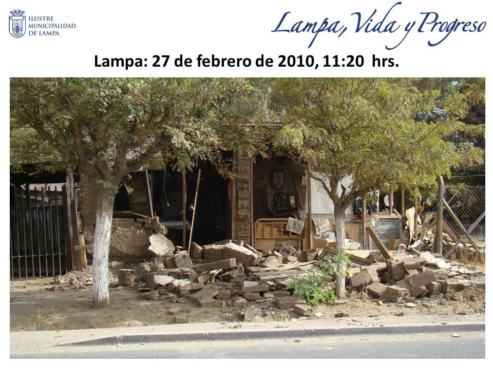 Lampa: 27 de febrero de 2010, 11:20 hrs.