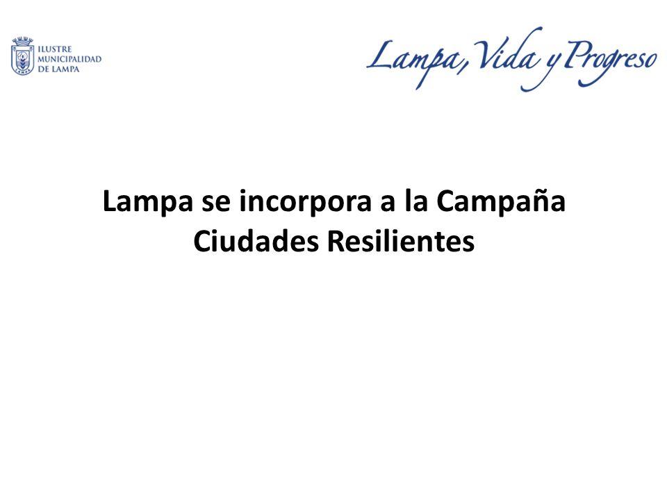 Lampa se incorpora a la Campaña Ciudades Resilientes