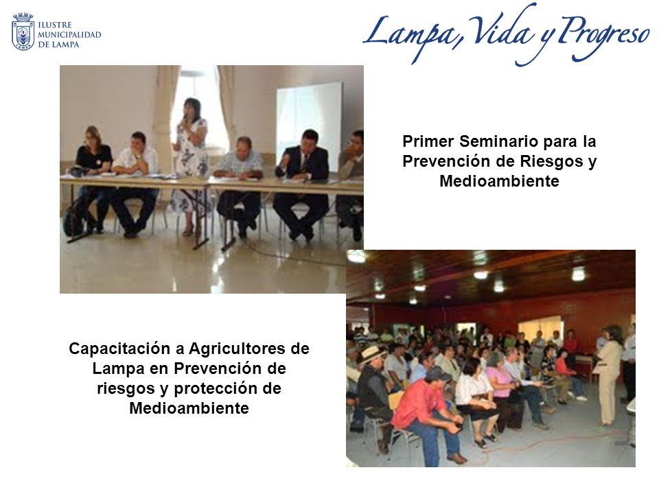 Primer Seminario para la Prevención de Riesgos y Medioambiente Capacitación a Agricultores de Lampa en Prevención de riesgos y protección de Medioambiente
