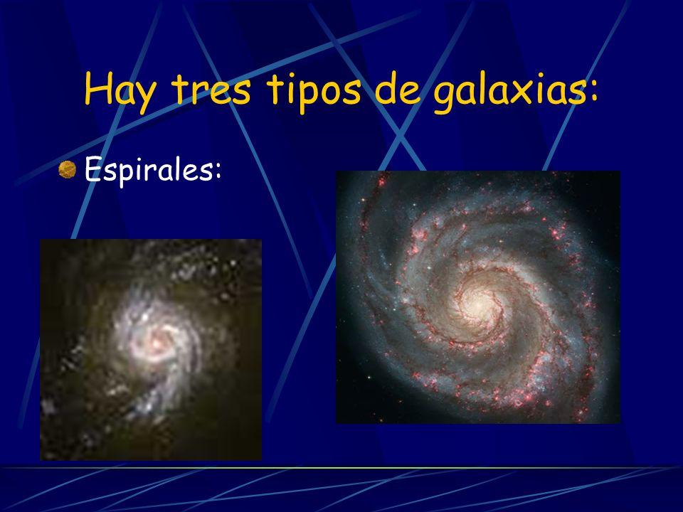 Hay tres tipos de galaxias: Espirales:
