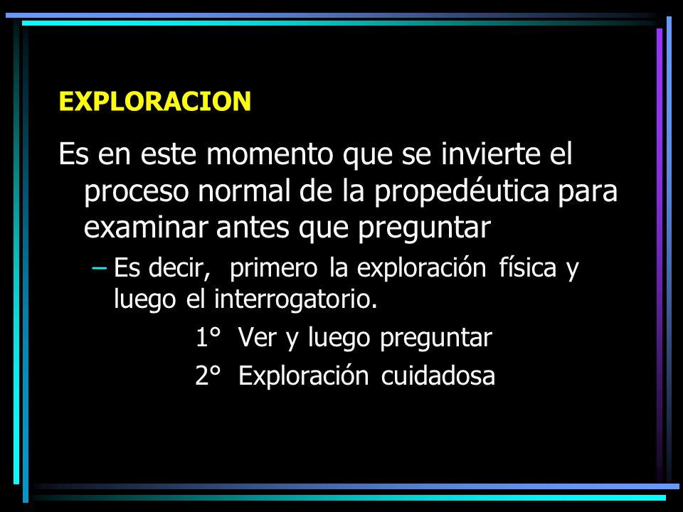 EXPLORACION Después de establecer la relación médico – paciente: – Algo en la piel –Términos populares: Ronchas, jiotes, granos, alergia, etc.