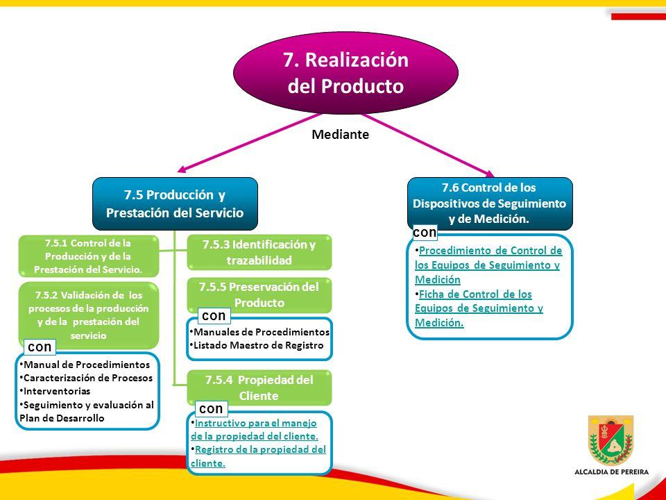 7.5.5 Preservación del Producto 7.