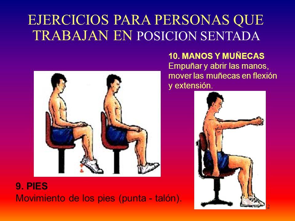52 9. PIES Movimiento de los pies (punta - talón).