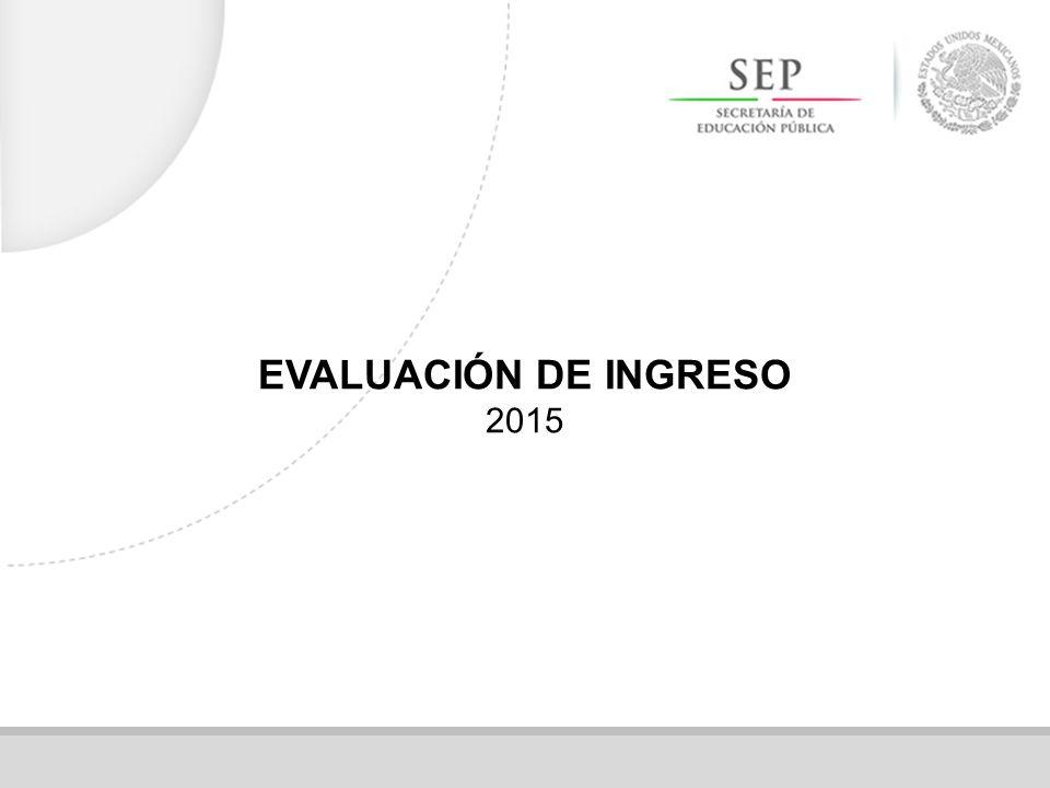 EVALUACIÓN DE INGRESO 2015