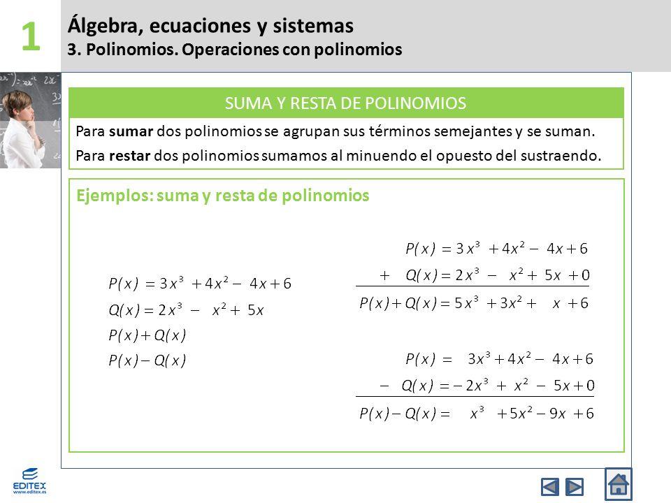 Álgebra, ecuaciones y sistemas 11.Métodos algebraicos de resolución de sistemas 11.2.