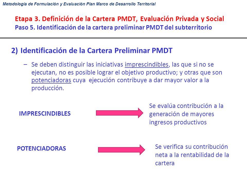 Metodología de Formulación y Evaluación Plan Marco de Desarrollo ...