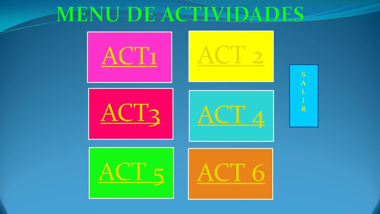 ACT1 ACT 2 ACT3 ACT 4 ACT 5 ACT 6 SALIRSALIR
