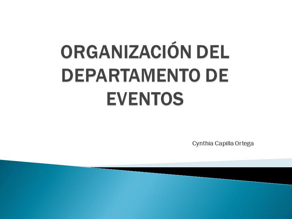 Comparación de la estructura organizativa del departamento de eventos en dos hoteles de diferentes características
