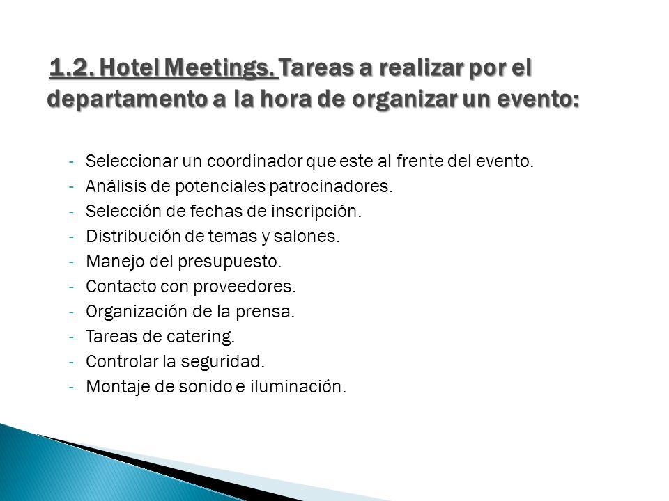 2.1.Hotel Congresos. Plantilla necesaria para llevar a cabo las tareas:  Secretaría científica.