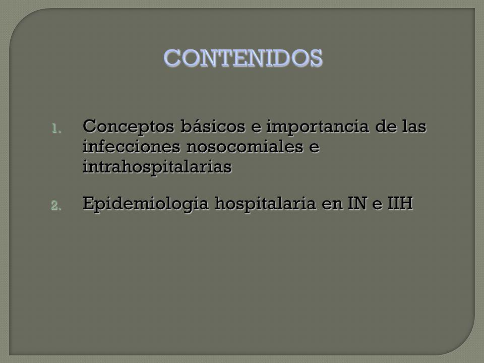 1. Conceptos básicos e importancia de las infecciones nosocomiales e intrahospitalarias 2.
