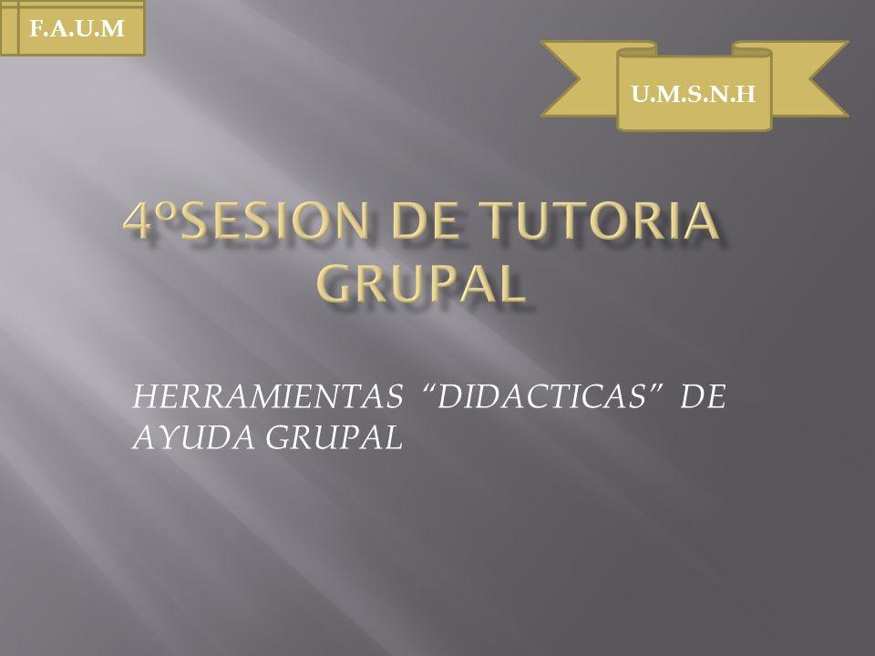HERRAMIENTAS DIDACTICAS DE AYUDA GRUPAL U.M.S.N.H F.A.U.M