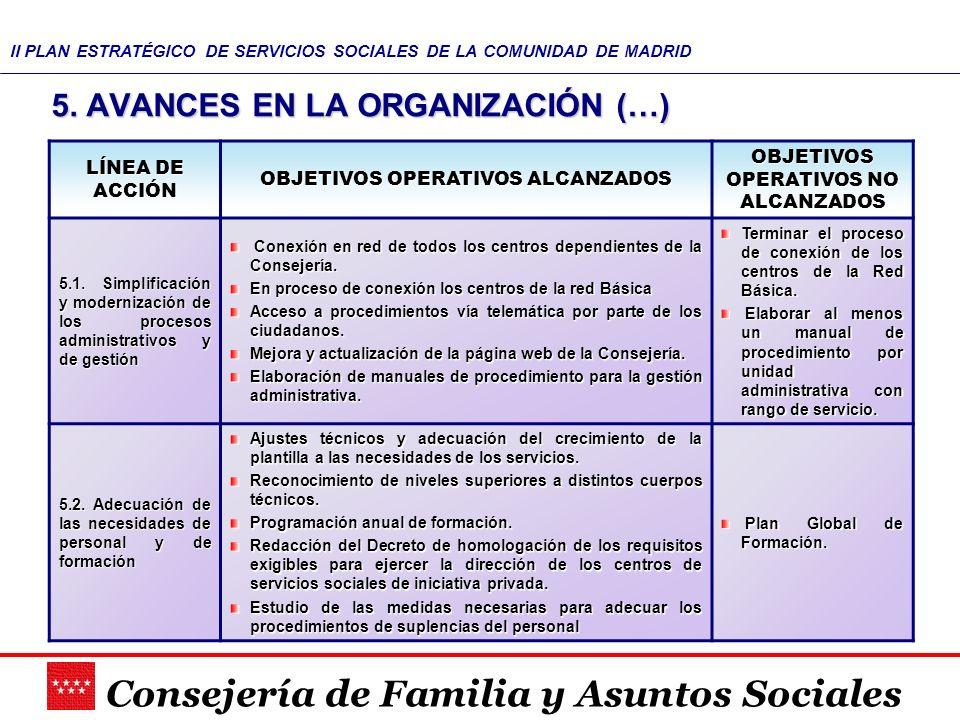 Consejería de Familia y Asuntos Sociales II PLAN ESTRATÉGICO DE ...