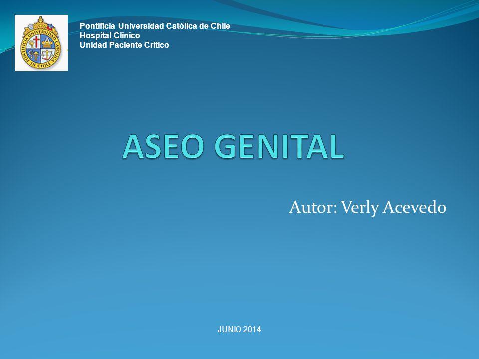 Autor: Verly Acevedo Pontificia Universidad Católica de Chile Hospital Clínico Unidad Paciente Critico JUNIO 2014