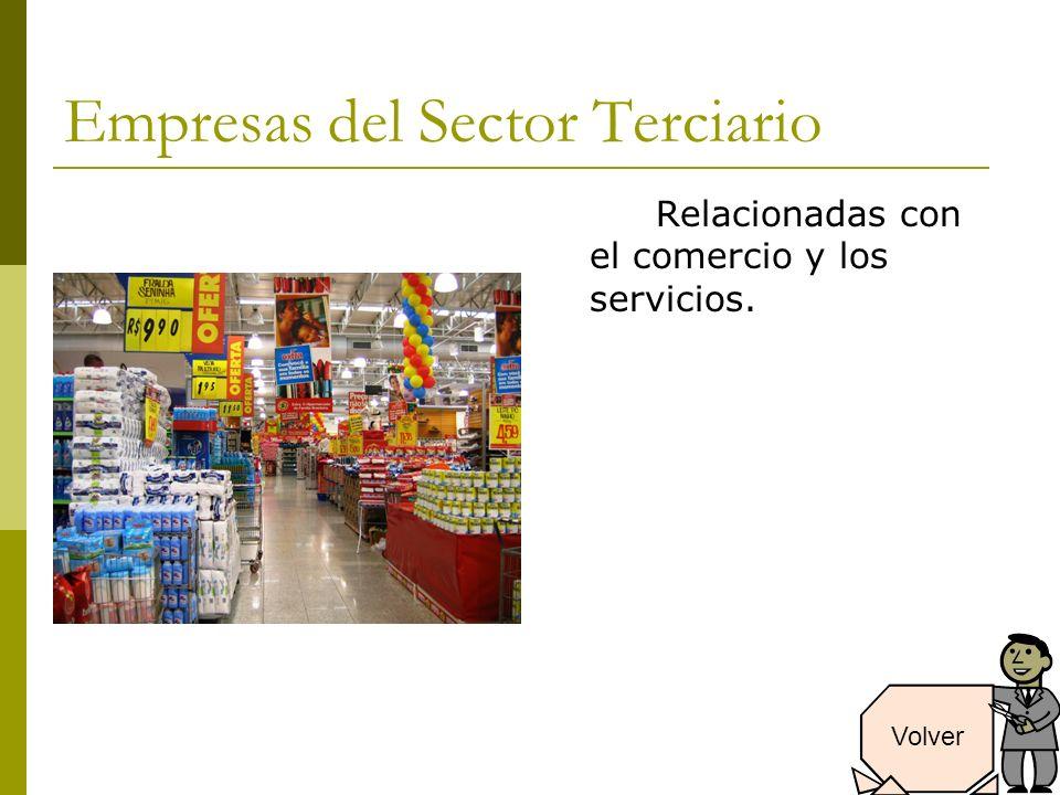 Empresas del Sector Terciario Relacionadas con el comercio y los servicios. Volver