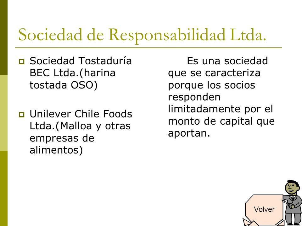 Sociedad de Responsabilidad Ltda.