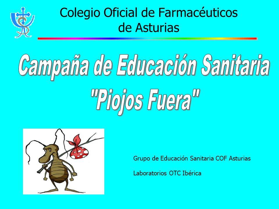 Colegio Oficial de Farmacéuticos de Asturias Grupo de Educación Sanitaria COF Asturias Laboratorios OTC Ibérica